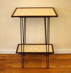 mcm hairpin side table with shelf 3