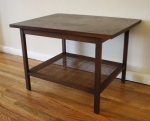 mcm Lane table with caned shelf 1