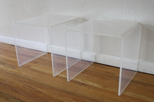 mcm lucite side tables 1