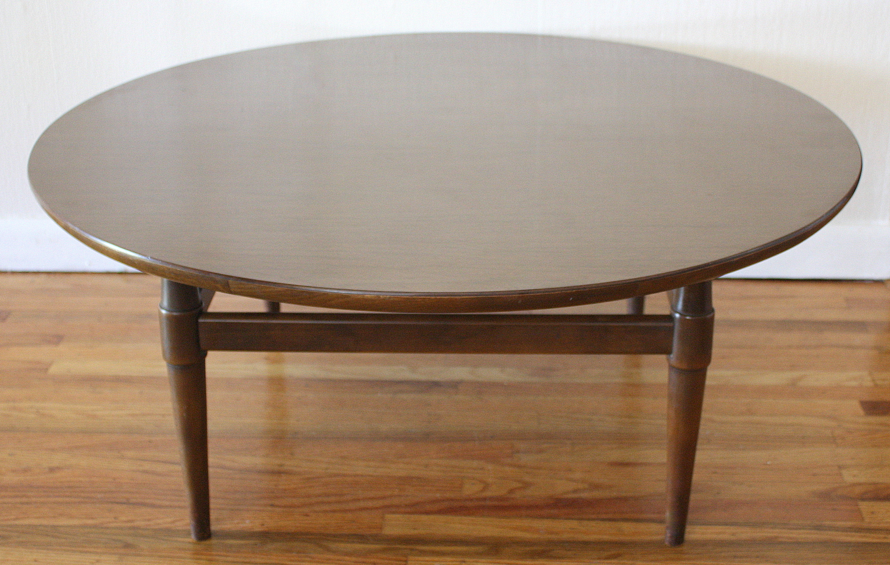Mcm round coffee table 3 picked vintage Round coffee tables