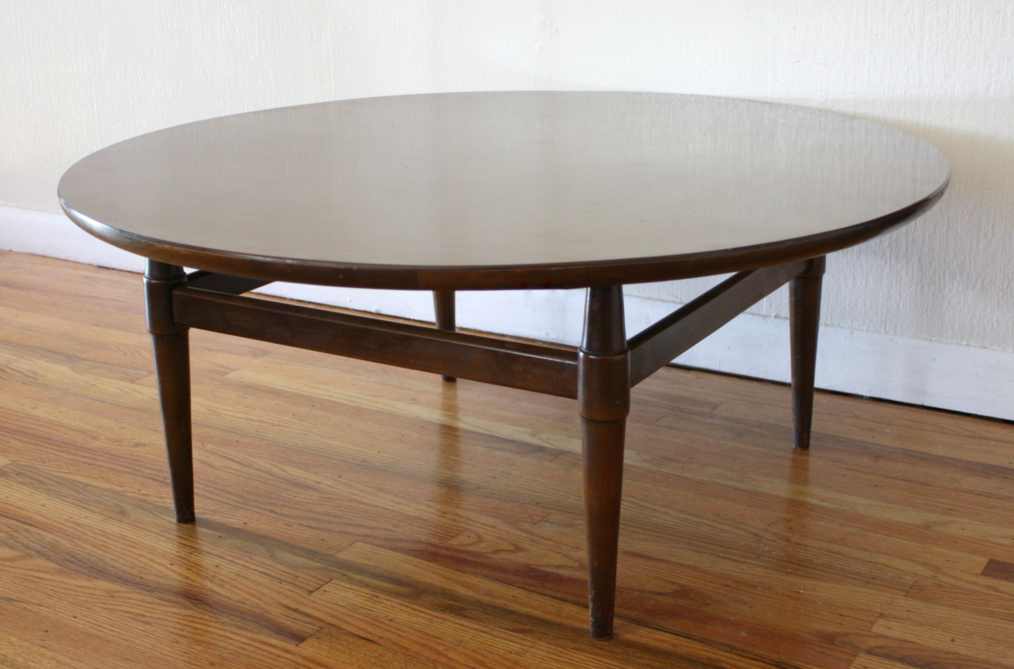 mcm round coffee table 4 picked vintage