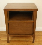 mcm side table with harp drawer 1