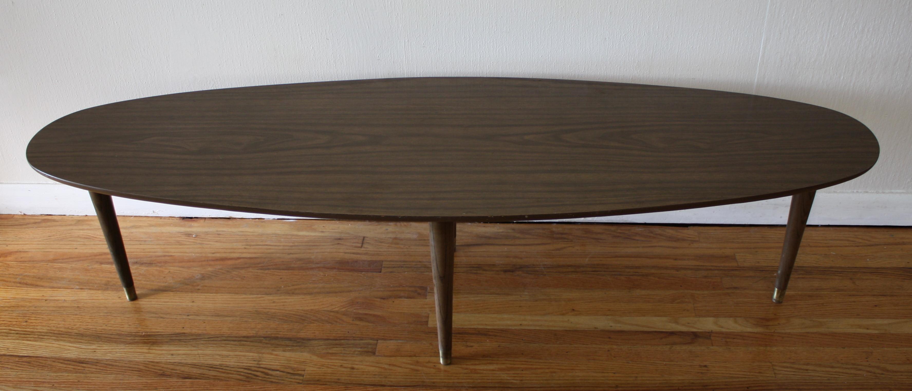 Mid Century Modern Surfboard Coffee Tables : Picked Vintage