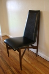 mcm tall cross leg chair
