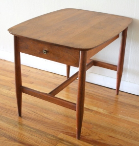 mcm wood end table 1