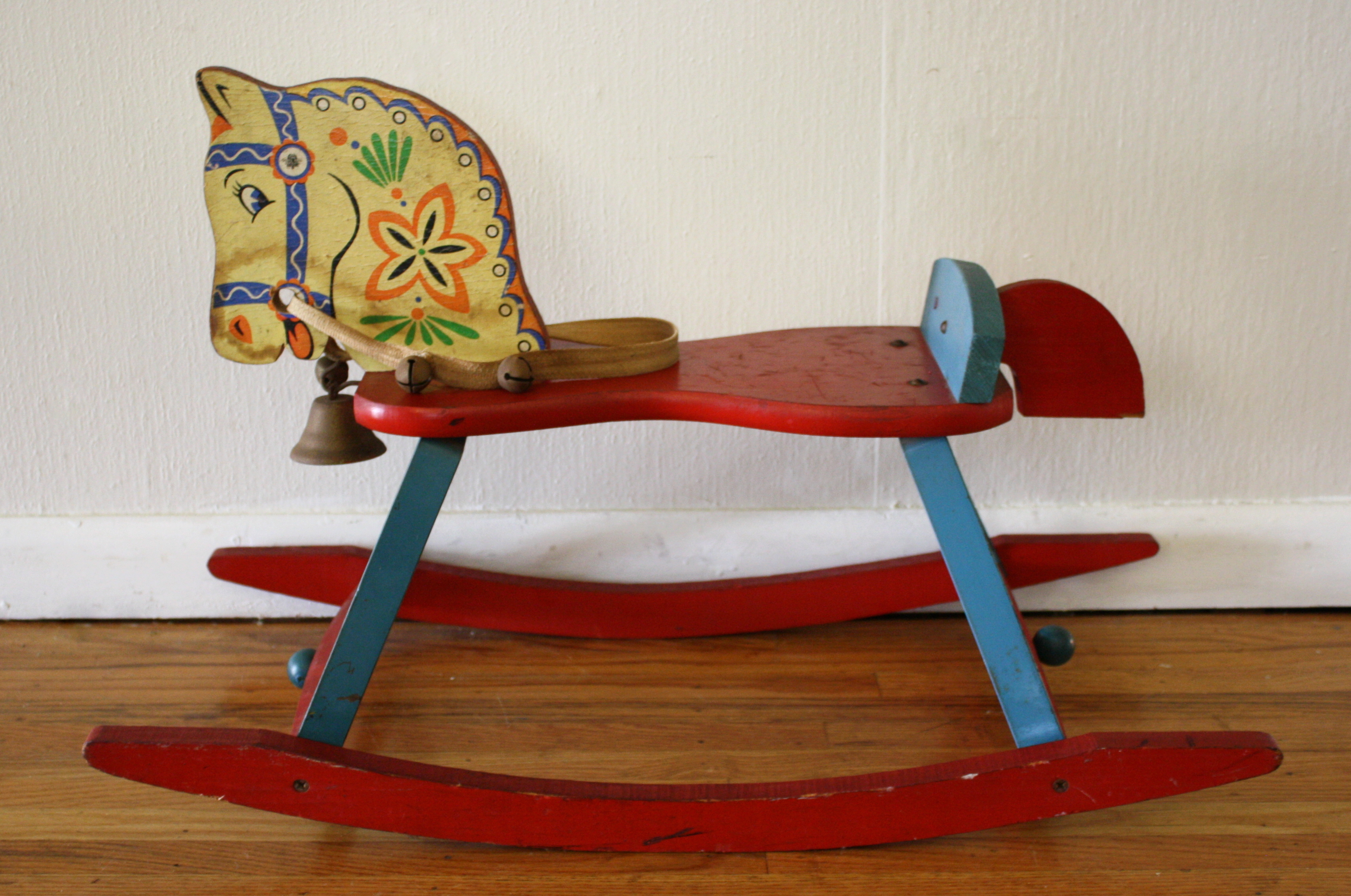 multi wood rocking horse 1 | Picked Vintage
