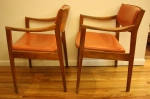 Gunlocke arm chairs orange 3