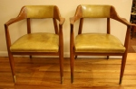 Gunlocke arm chairs yellow 1