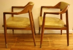 Gunlocke arm chairs yellow 3