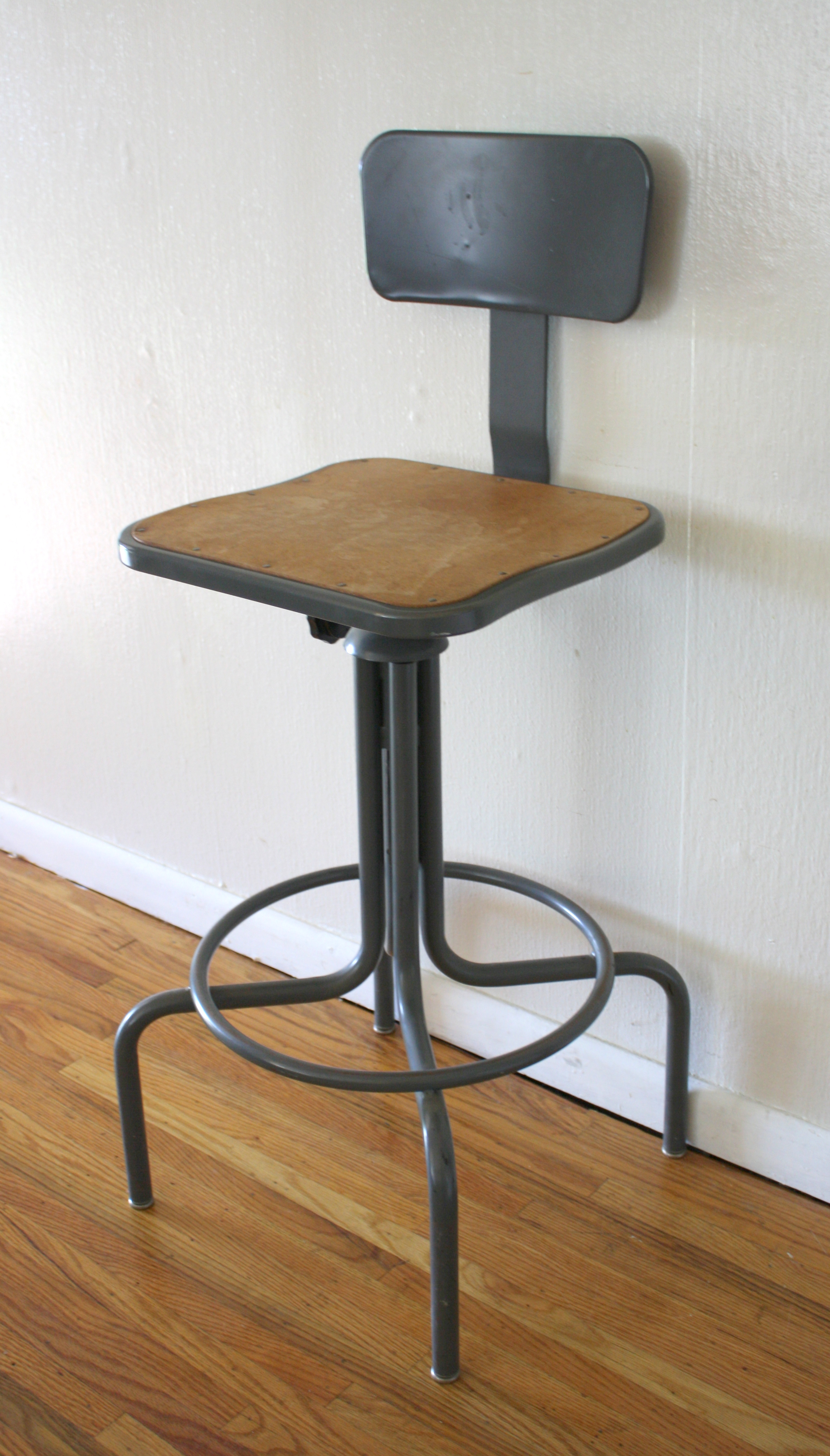 industrial drafting stool 2 & industrial drafting stool 2 | Picked Vintage