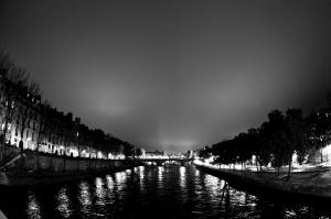 La Seine vue de Pont Marie
