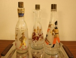 vintage russian liquor bottle collection 1
