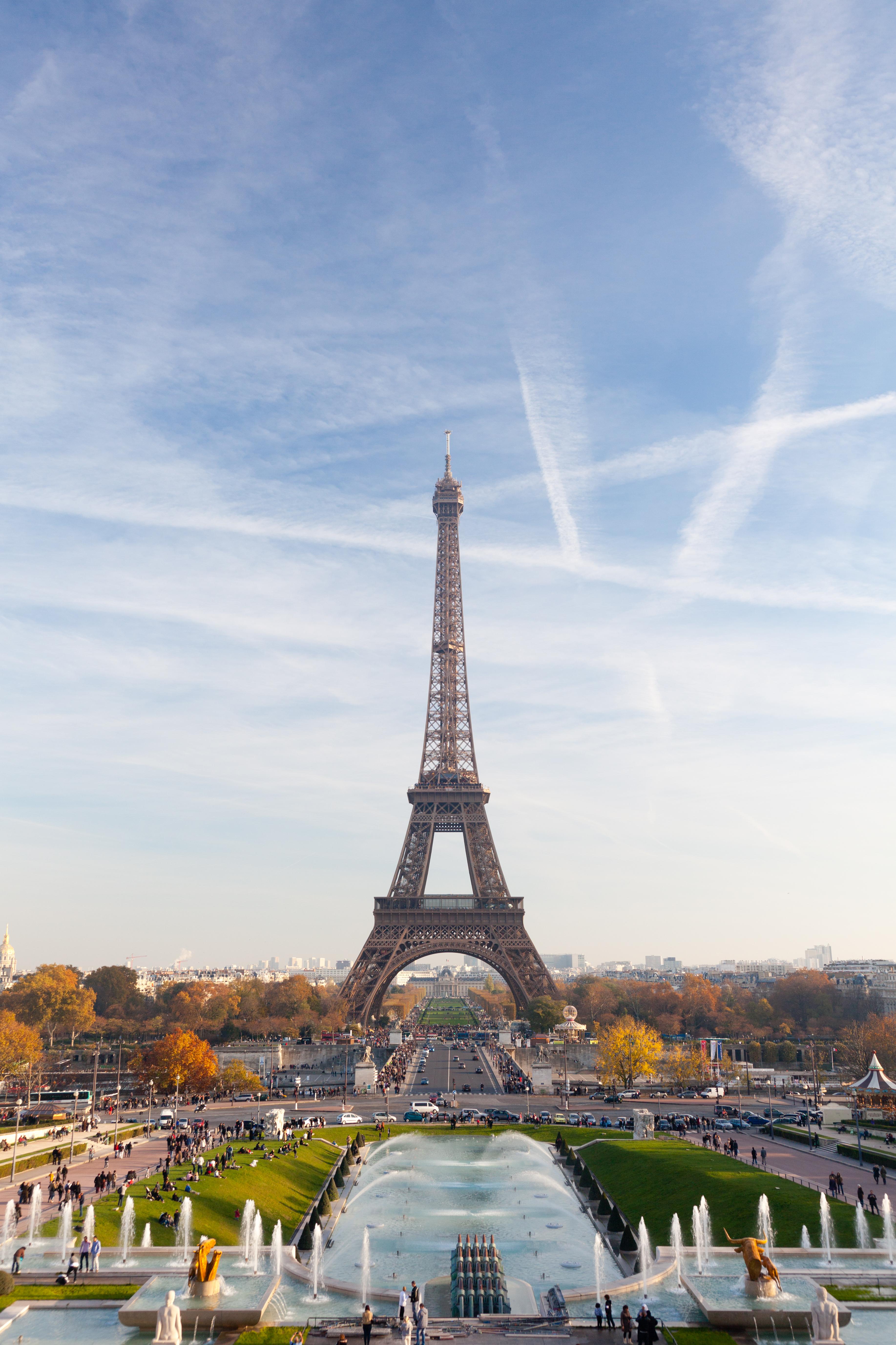 Vue De La Tour Eiffel Un Jour D Automne Chaud Picked Vintage