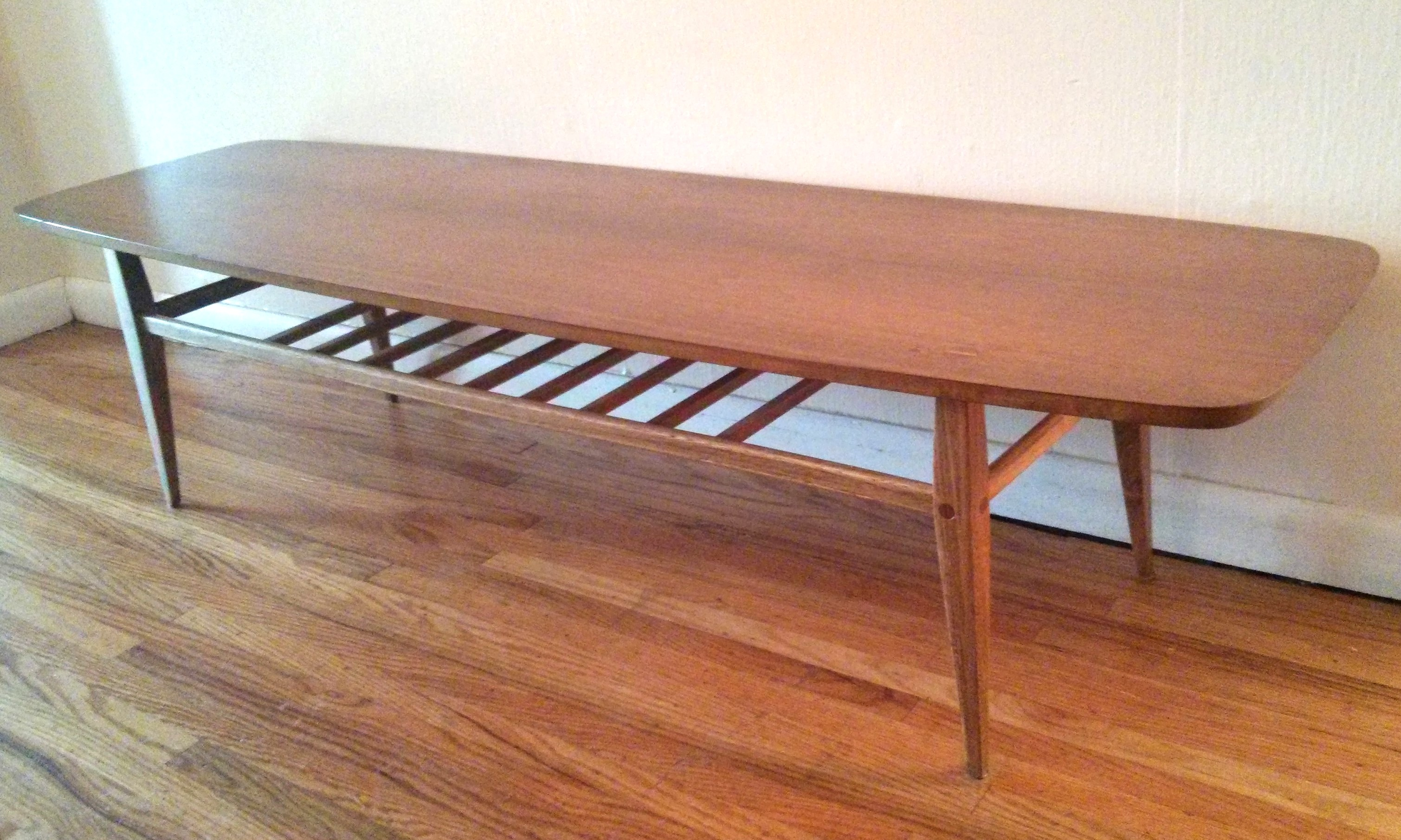 Mid Century Modern Lane Surfboard Coffee Tables