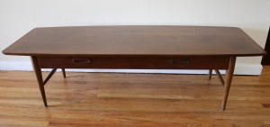 mcm lane table with drawer 1