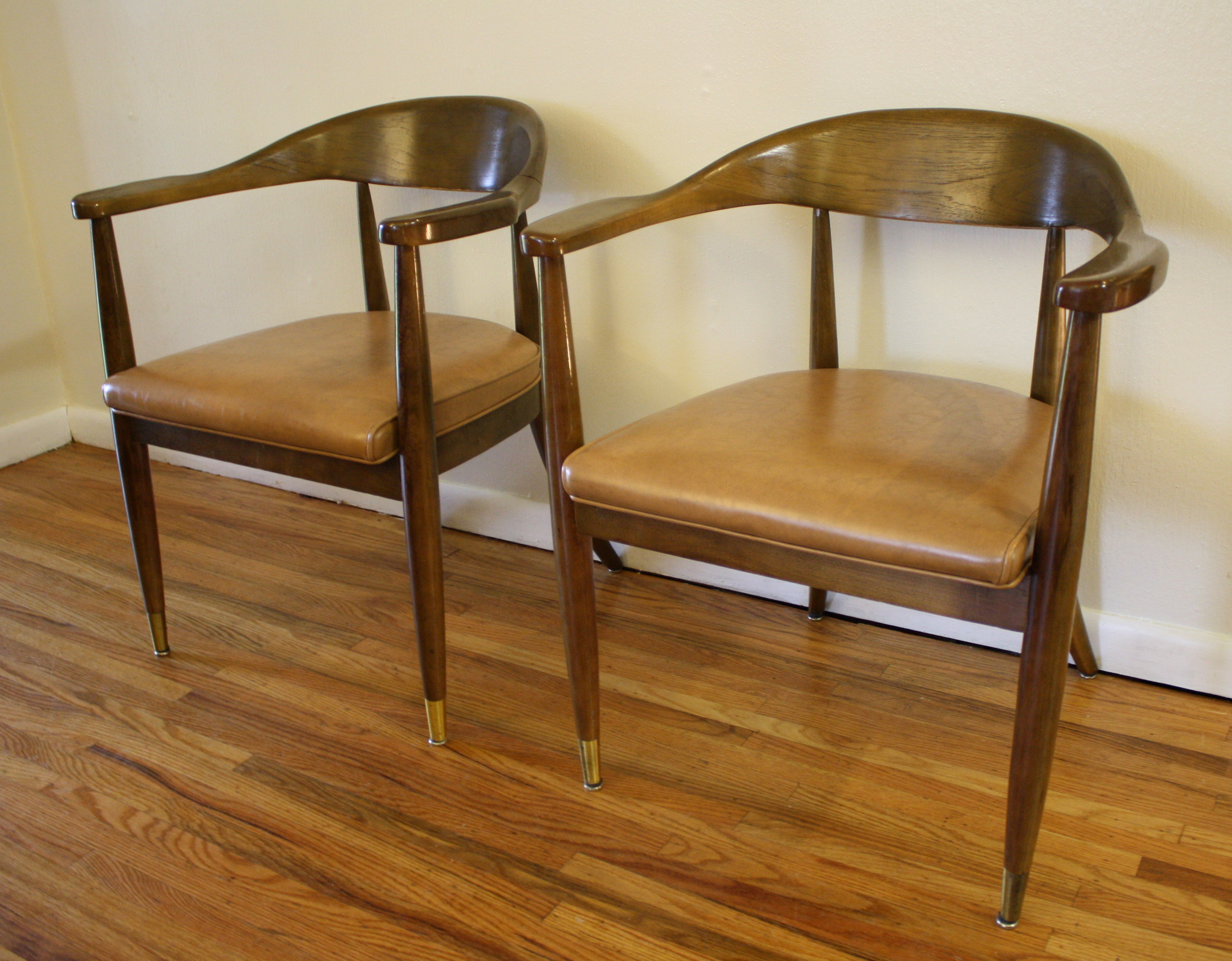 Mid century modern chairs by the boling chair company for Modern furniture companies