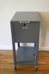 Antique rolling file cabinet