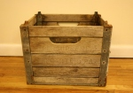 Antique milk bottle crate from PA