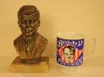 Jfk bust and Bobby Kennedy presidential mug