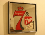 Vintage Seagram's advertising mirror
