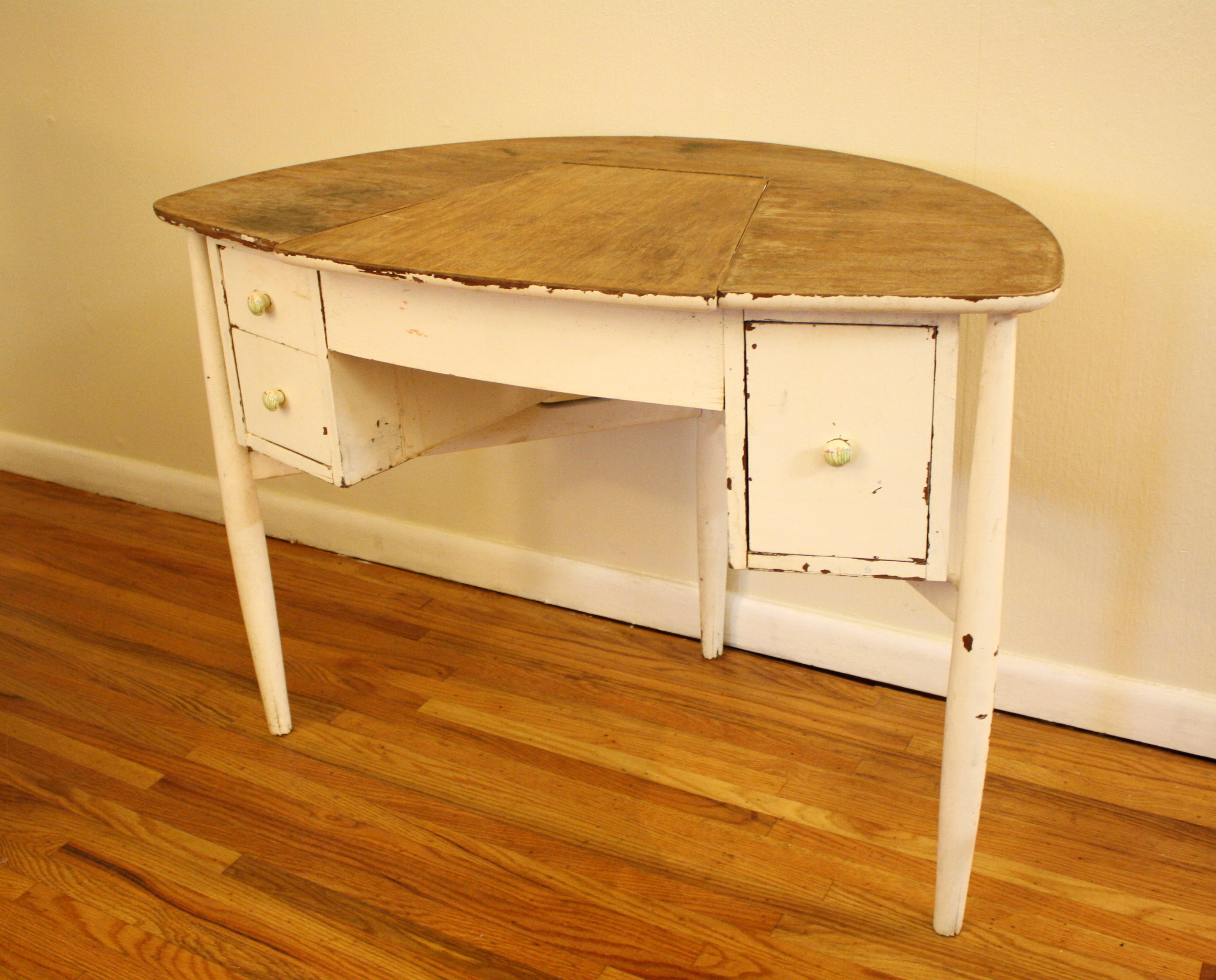antique shabby chic vanity table picked vintage