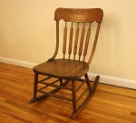 Antique oak child's rocking chair