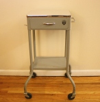 Vintage medical rolling side table