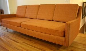 mcm orange couch 1