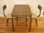 Mid century modern children's bentwood play set of 2 chairs and table