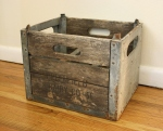 Antique milk crate from Greenfiled CO