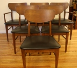 Mid century modern dining chair set of 6 chairs