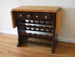 Vintage Ethan Allen butcher block wine rack