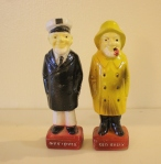 Vintage seamen salt & pepper shakers