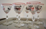 Vintage mini racing martini glasses