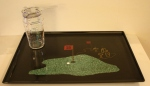 Couroc serving tray golf theme