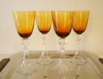 Vintage amber glasses set of 4