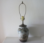 Mid century modern pottery table lamp