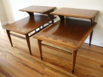 Mid century modern Lane 2 tiered side tables
