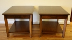 Mid century modern Lane end tables with drawers