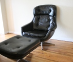 Mid century modern Selig lounge chair and ottoman
