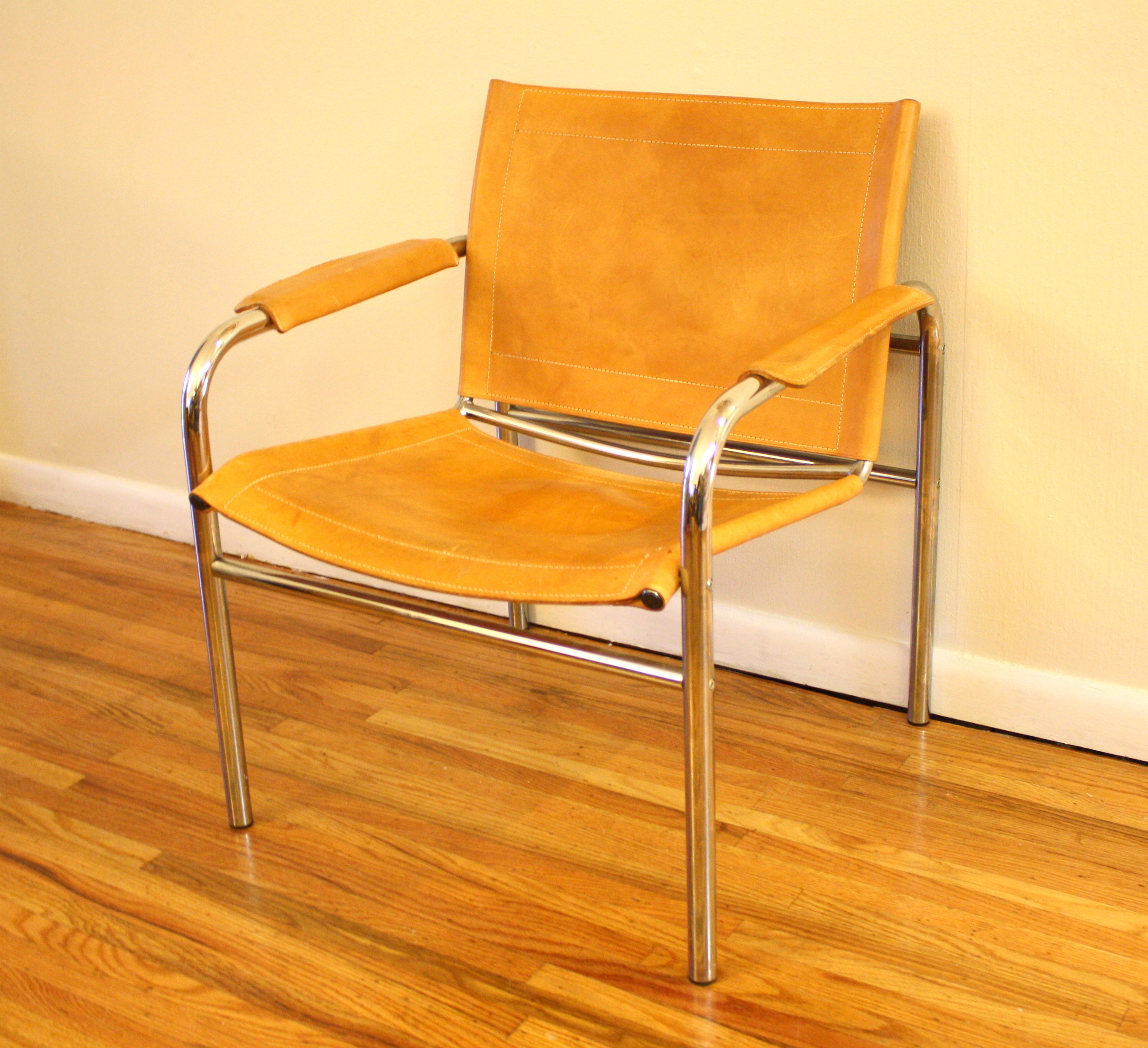 Mid Century Modern Arm Chairs Picked Vintage : mcm chrome leather chair from pickedvintage.com size 2634 x 2404 jpeg 2964kB