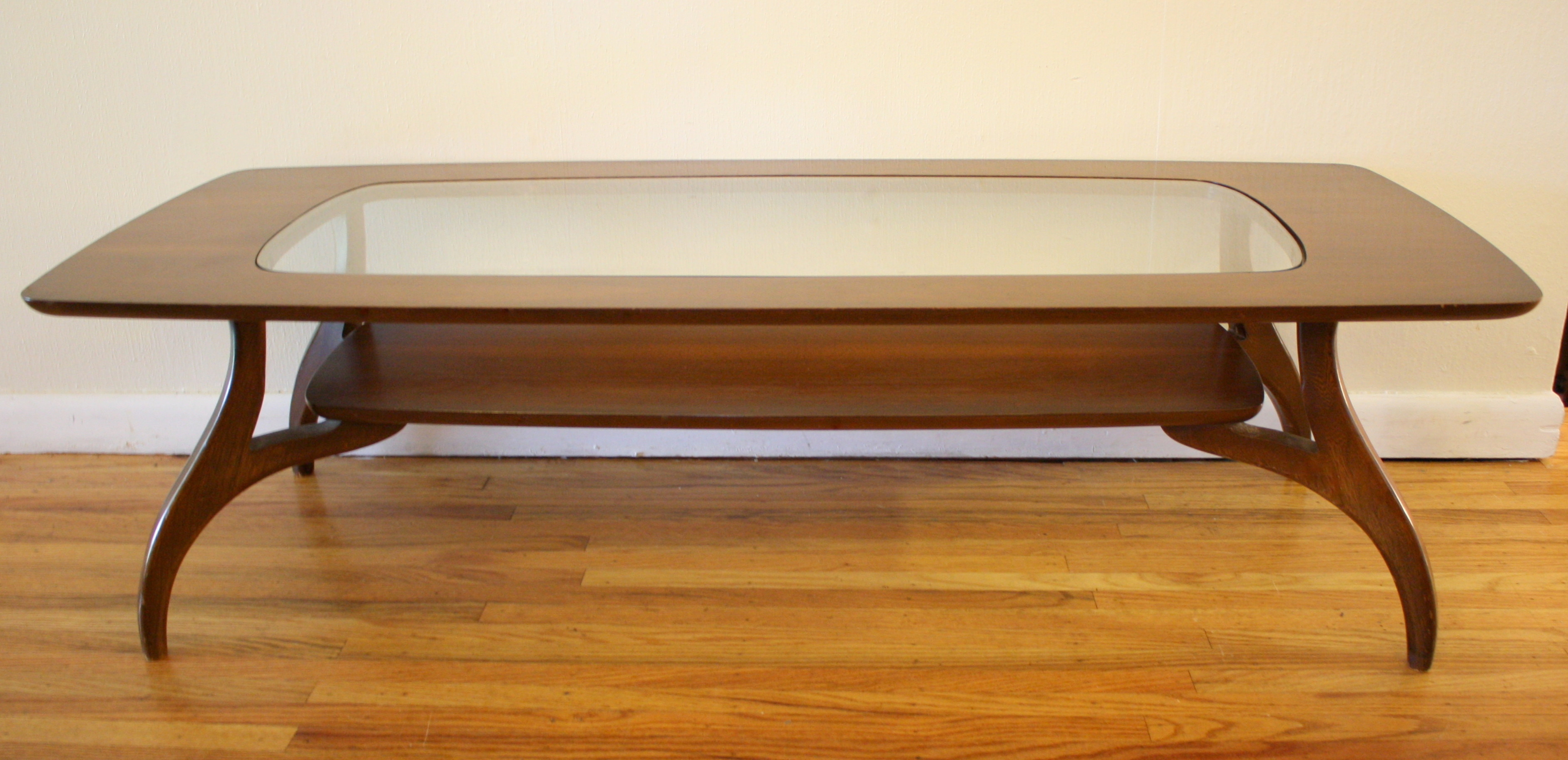 mcm coffee table glass top 2 | Picked Vintage