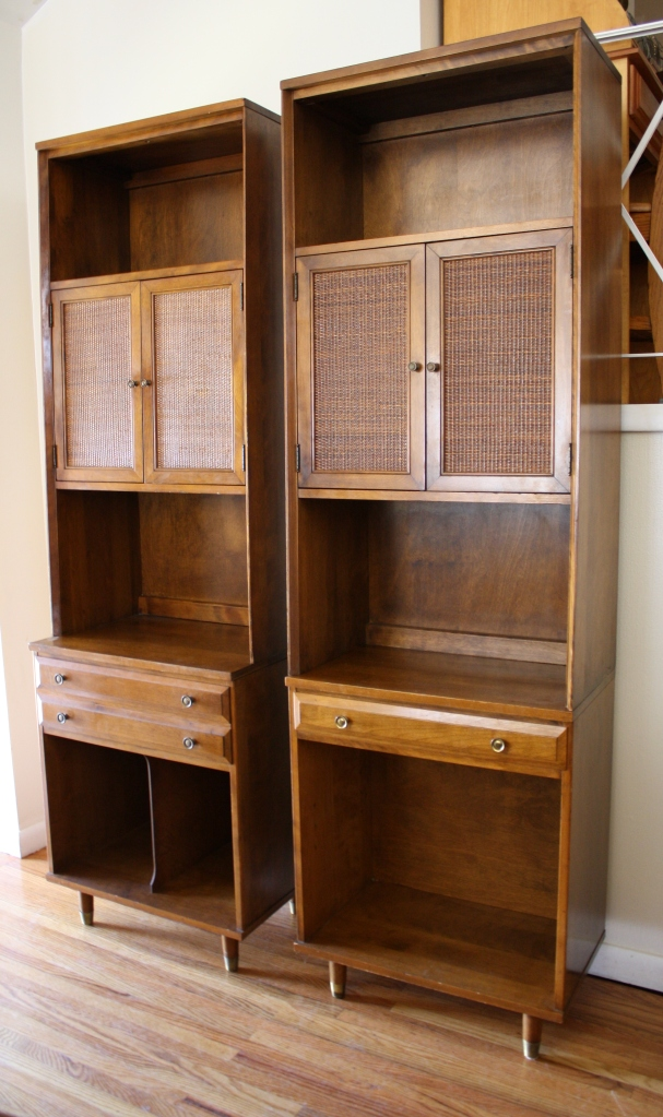Baumritter Tall Cabinets Picked Vintage