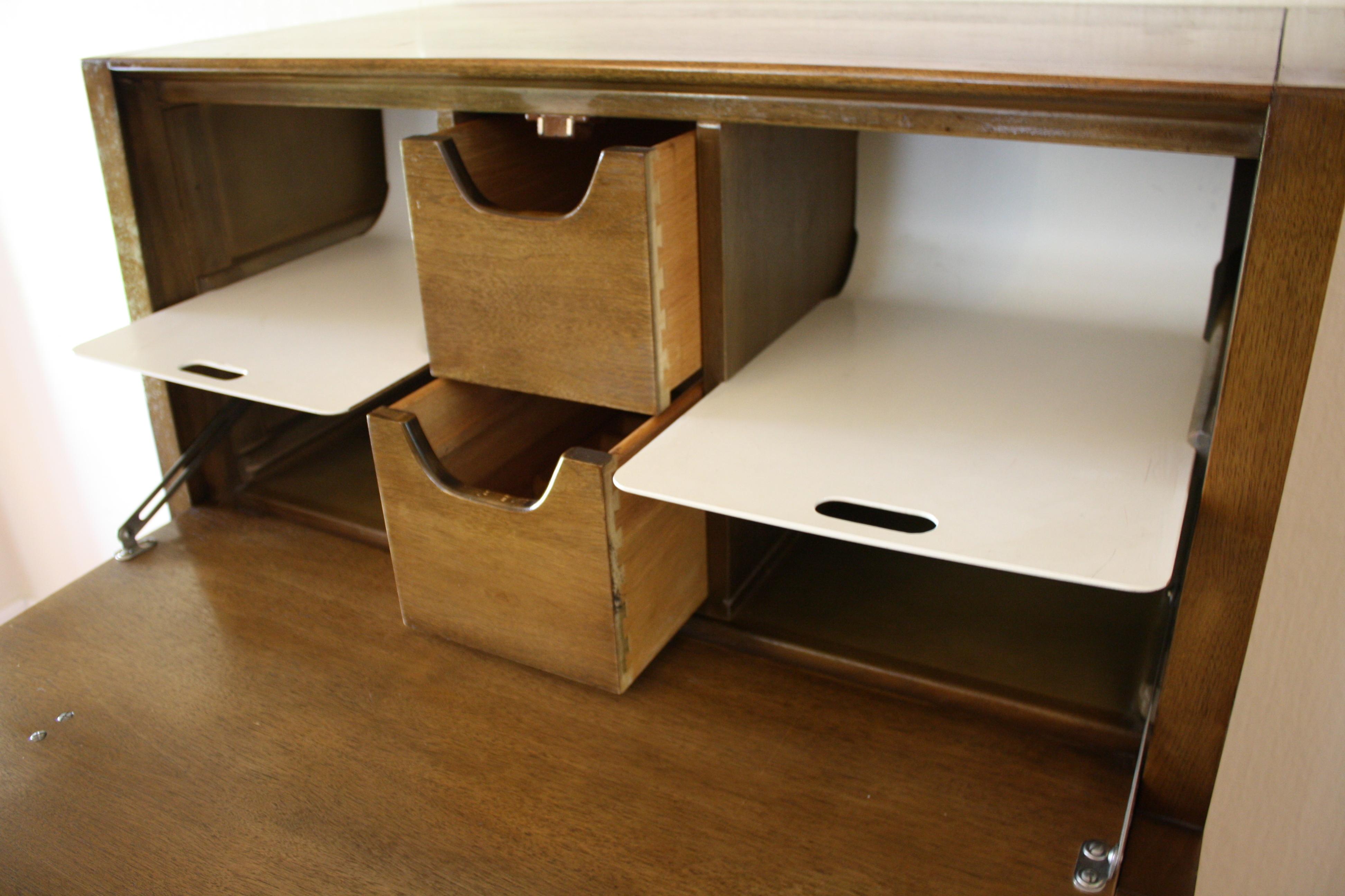 Drexel Mid Century Modern Secretary Desk Picked Vintage