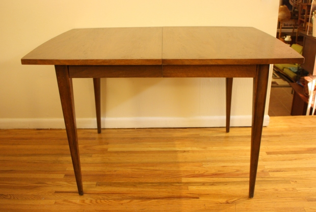 Mcm Dining Table Sculpted Legs Picked Vintage