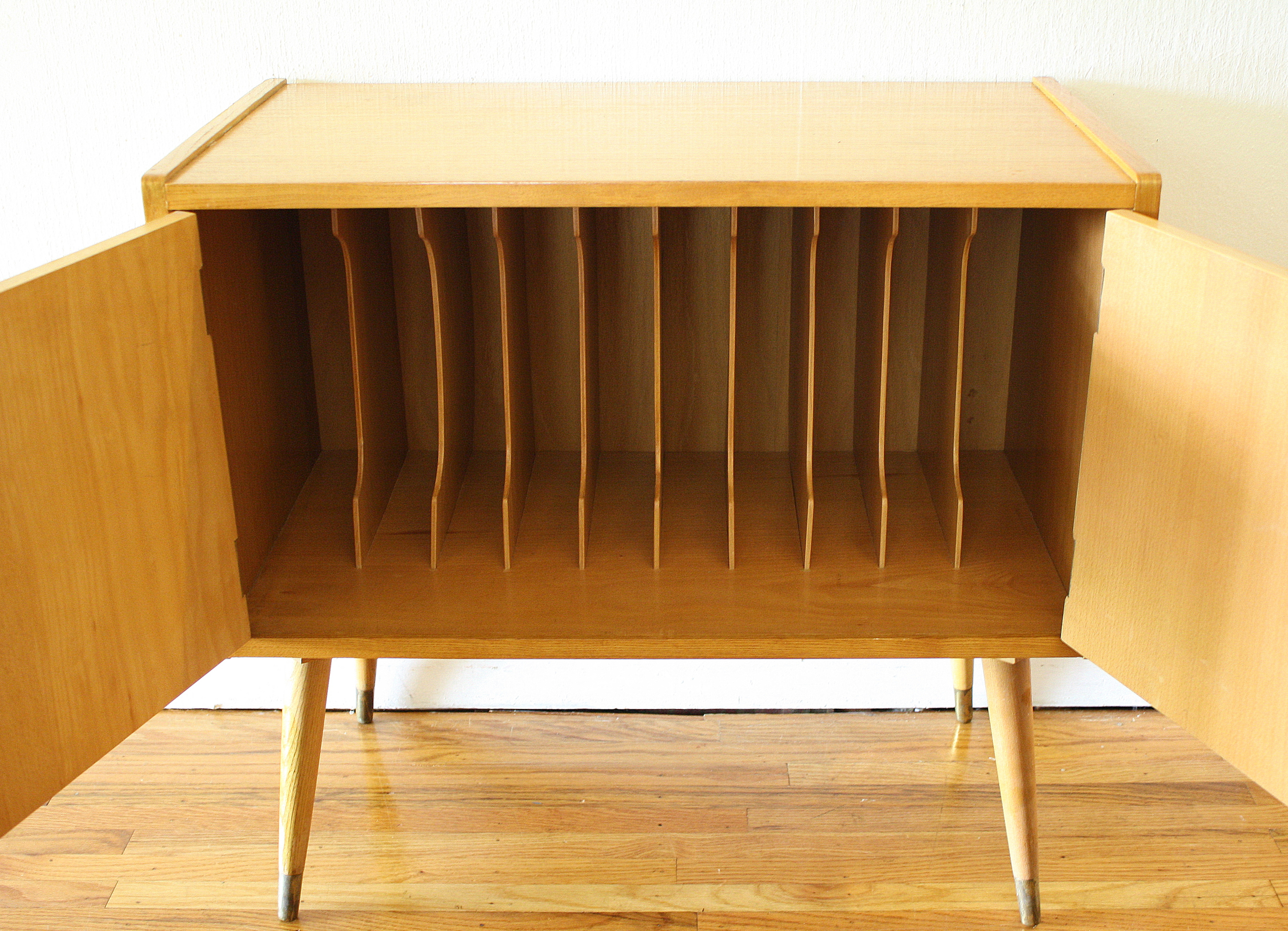 Mid Century Modern Record Cabinet Picked Vintage