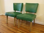 Mid century modern upholstered chairs: $125 each