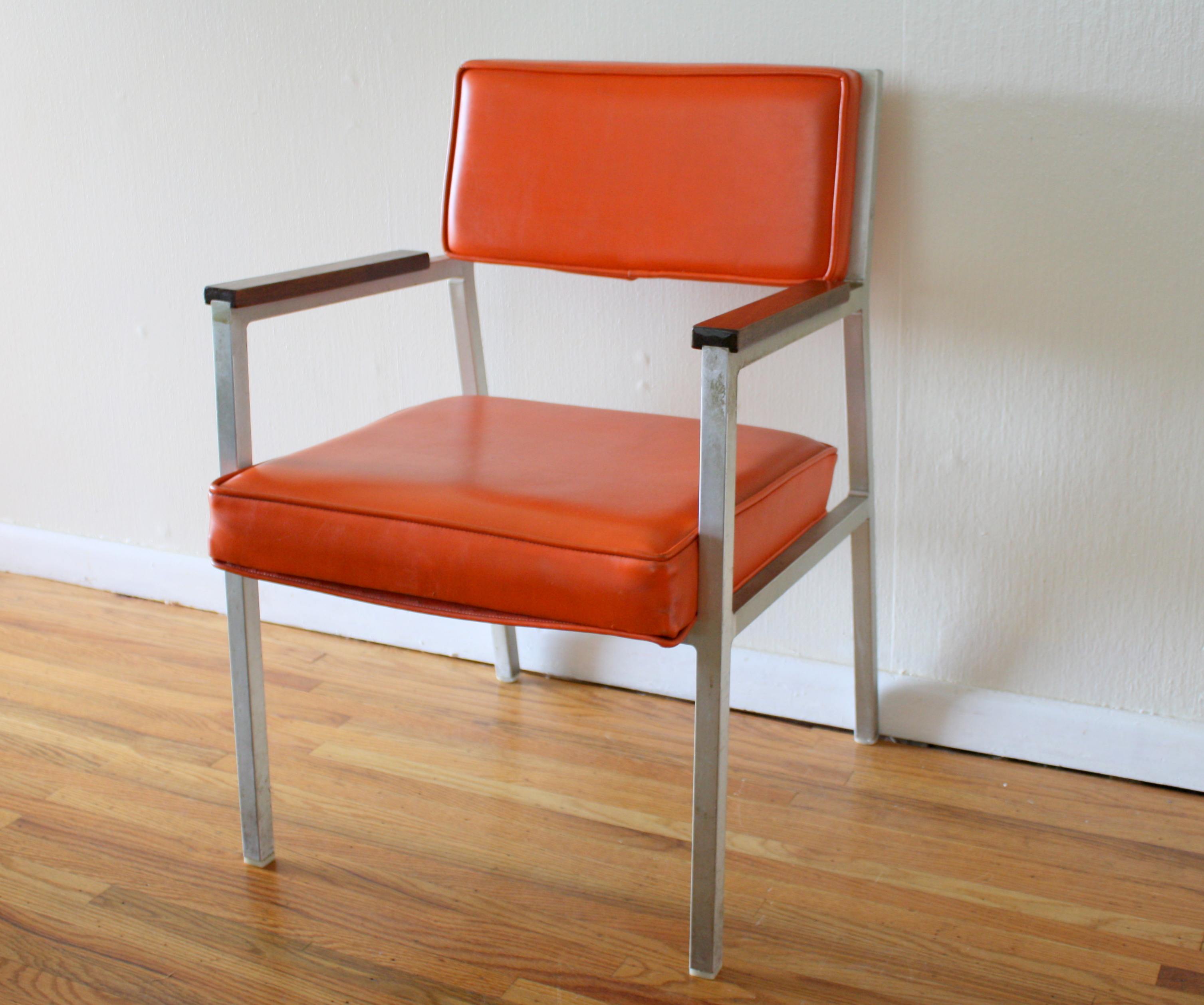 Mcm Orange Steelcase Chair 1