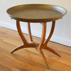 Mcm tray table with folding splayed base - *SOLD*