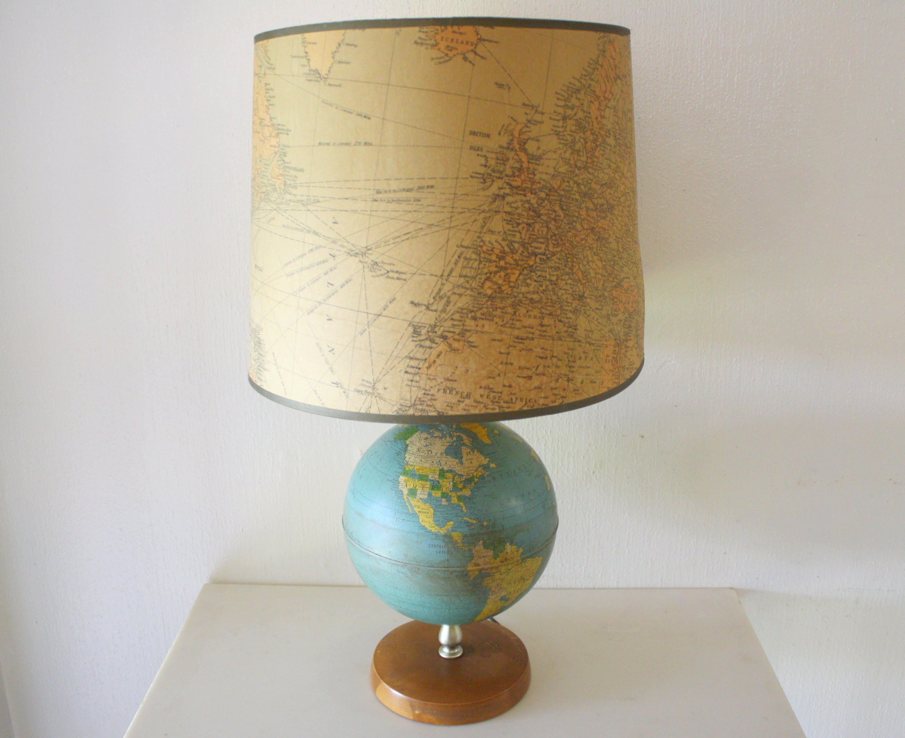 Vintage Globe Lamp Picked Vintage